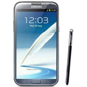 Samsung Galaxy Note 2 N7100 titanium gray colored smartphone